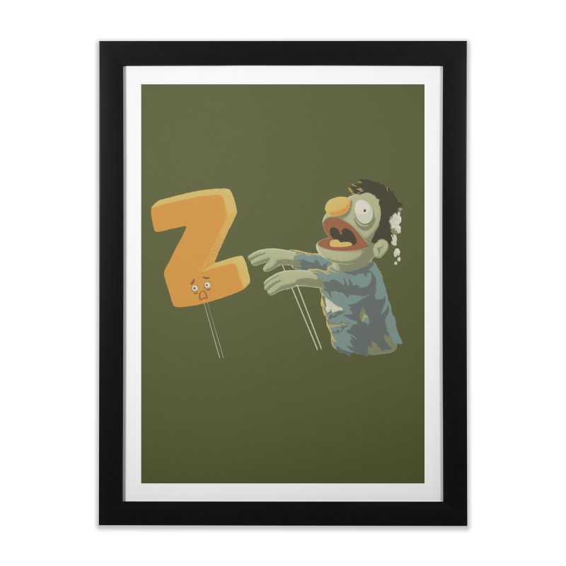 Z is for Zombie Home Framed Fine Art Print by Gyledesigns' Artist Shop