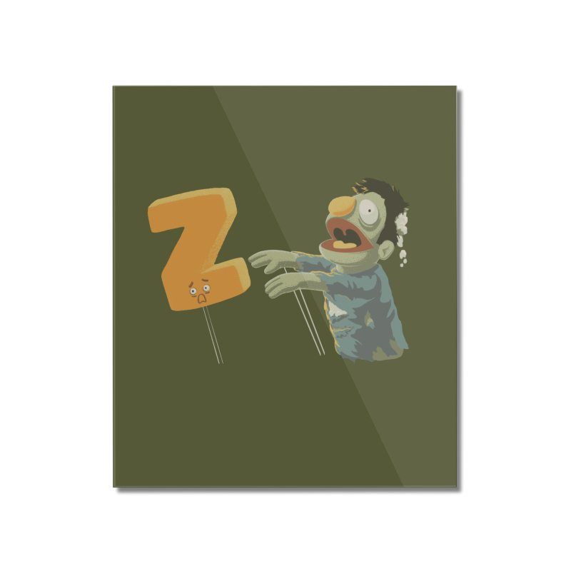 Z is for Zombie Home Mounted Acrylic Print by Gyledesigns' Artist Shop