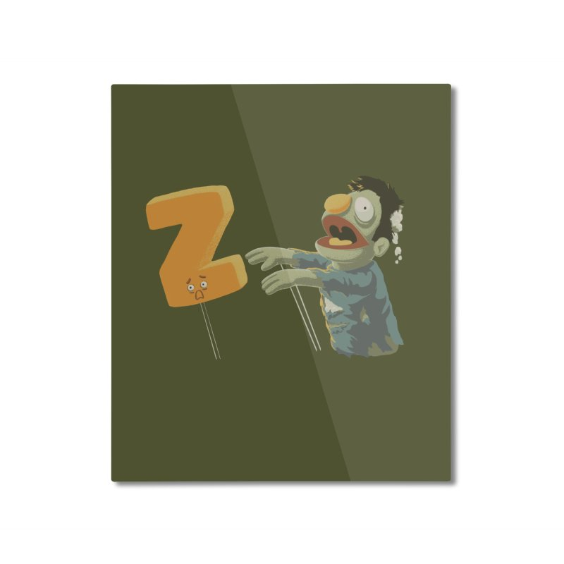 Z is for Zombie Home Mounted Aluminum Print by Gyledesigns' Artist Shop