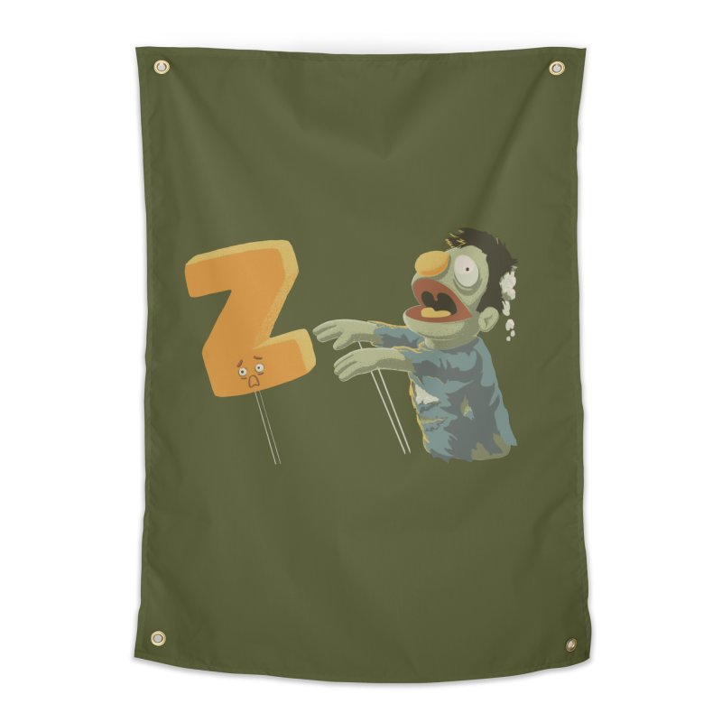 Z is for Zombie Home Tapestry by Gyledesigns' Artist Shop