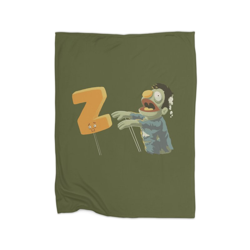 Z is for Zombie Home Fleece Blanket Blanket by Gyledesigns' Artist Shop