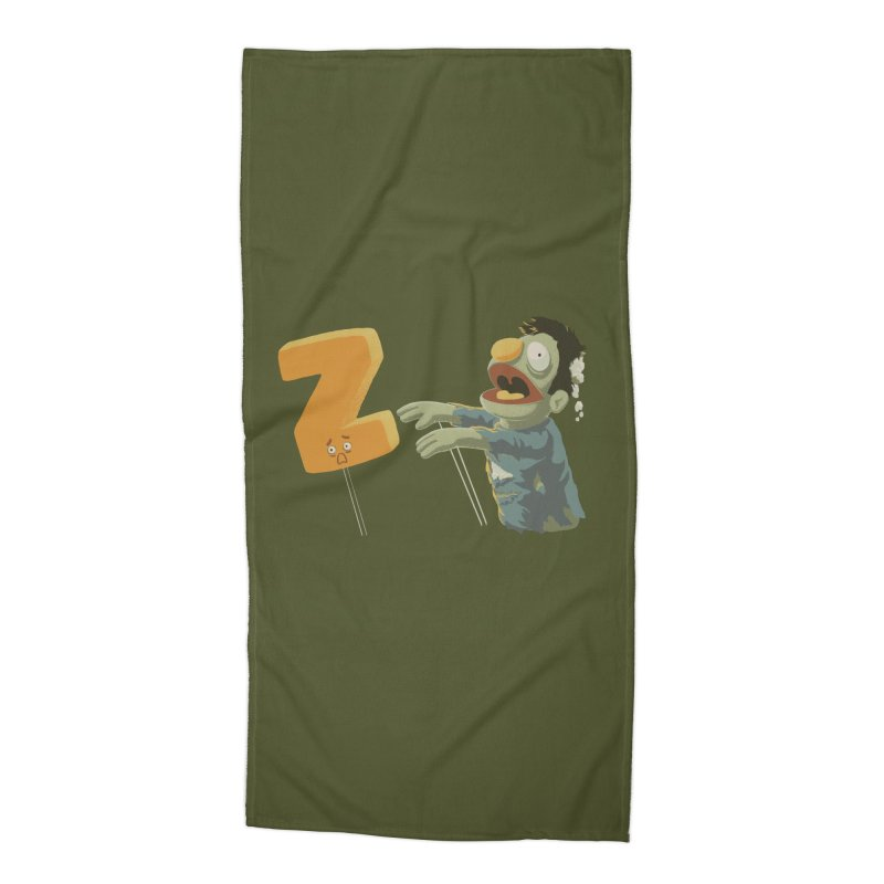 Z is for Zombie Accessories Beach Towel by Gyledesigns' Artist Shop