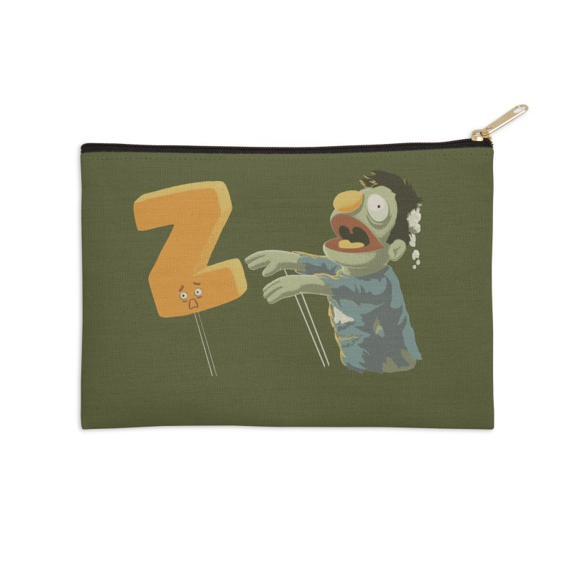 Z is for Zombie Accessories Zip Pouch by Gyledesigns' Artist Shop