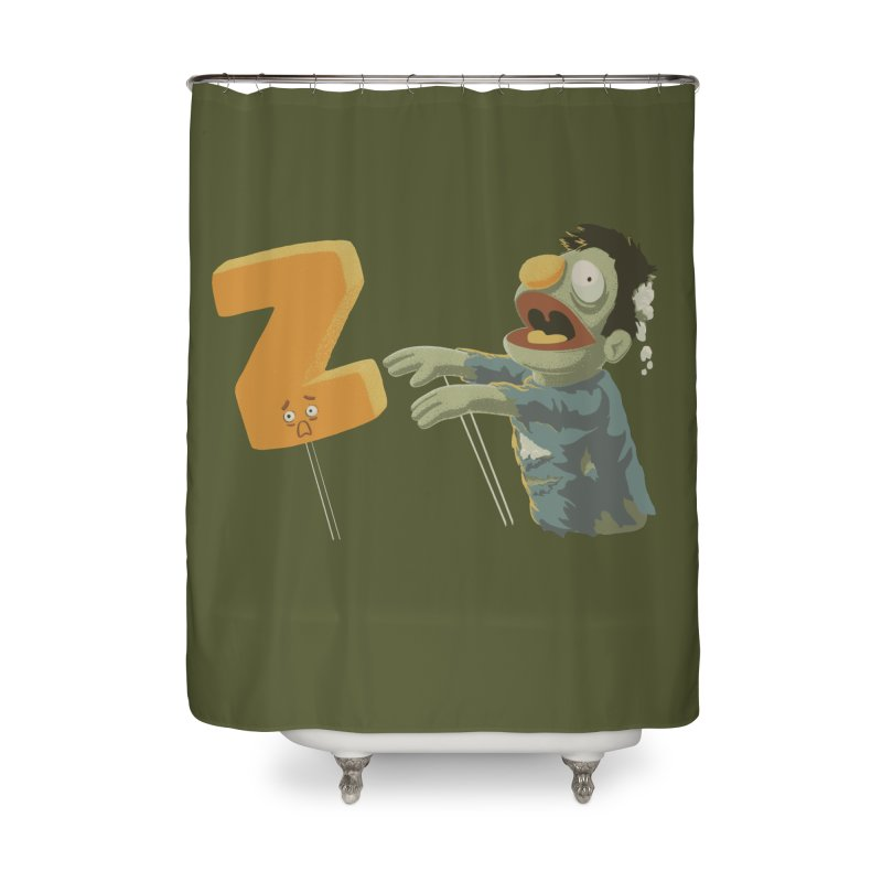 Z is for Zombie Home Shower Curtain by Gyledesigns' Artist Shop