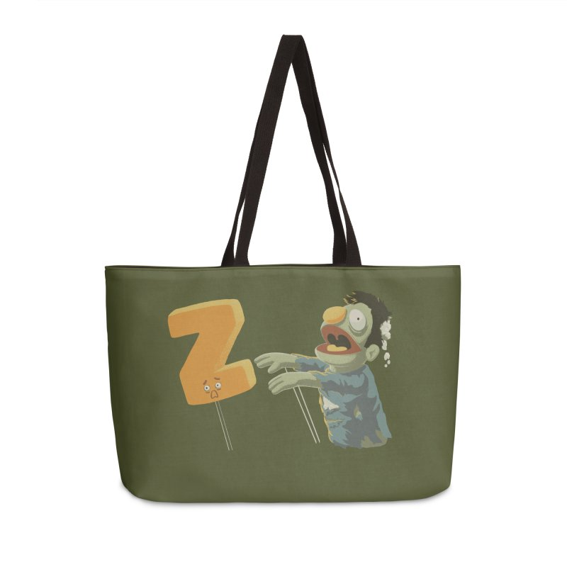 Z is for Zombie Accessories Weekender Bag Bag by Gyledesigns' Artist Shop