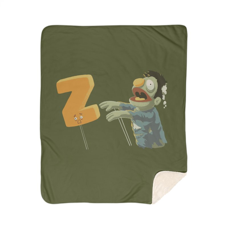 Z is for Zombie Home Sherpa Blanket Blanket by Gyledesigns' Artist Shop