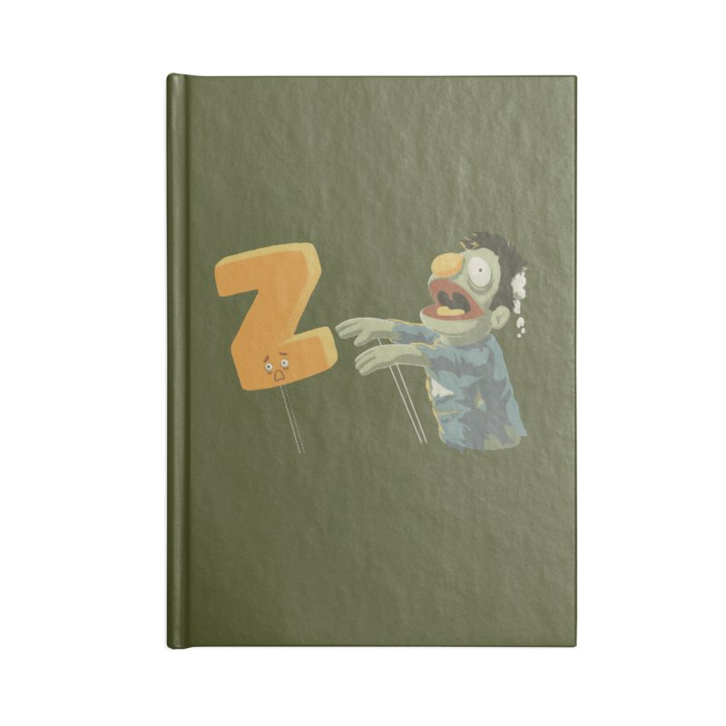 Z is for Zombie Accessories Notebook by Gyledesigns' Artist Shop