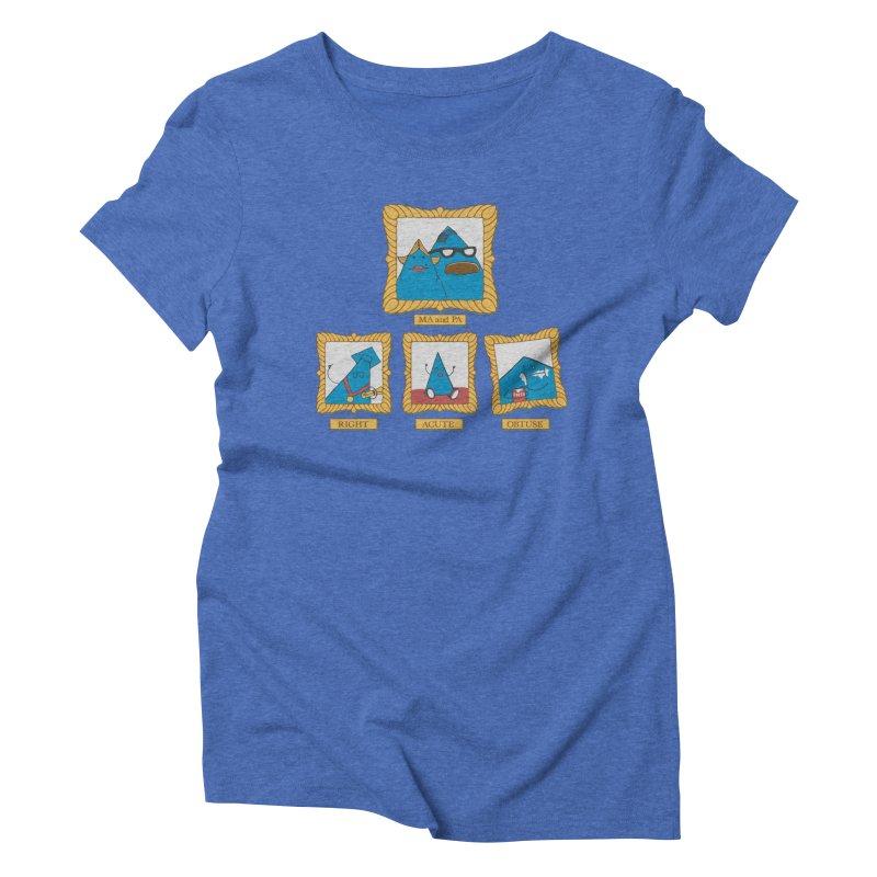 Family Geometry Women's Triblend T-shirt by Gyledesigns' Artist Shop