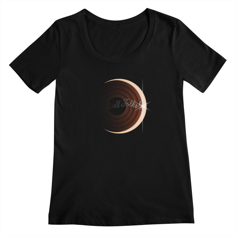 Looney Eclipse Women's Scoopneck by Gyledesigns' Artist Shop