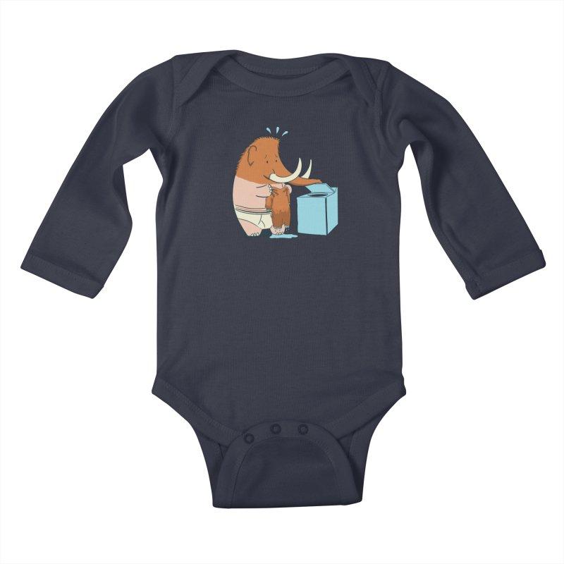 Mammoth Mistake Kids Baby Longsleeve Bodysuit by Gyledesigns' Artist Shop