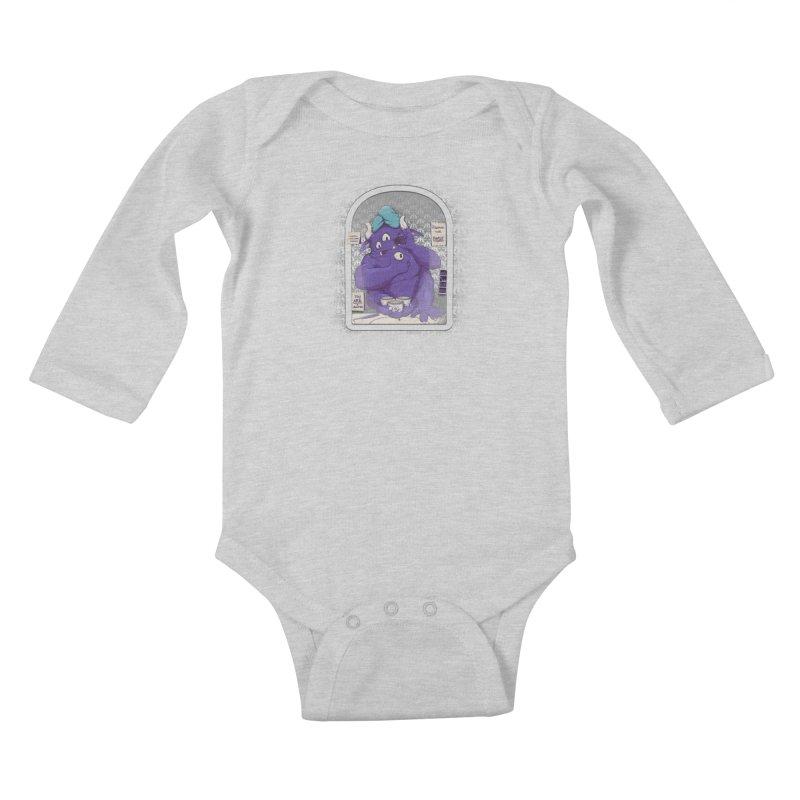 Monster in the Morning Kids Baby Longsleeve Bodysuit by Gyledesigns' Artist Shop