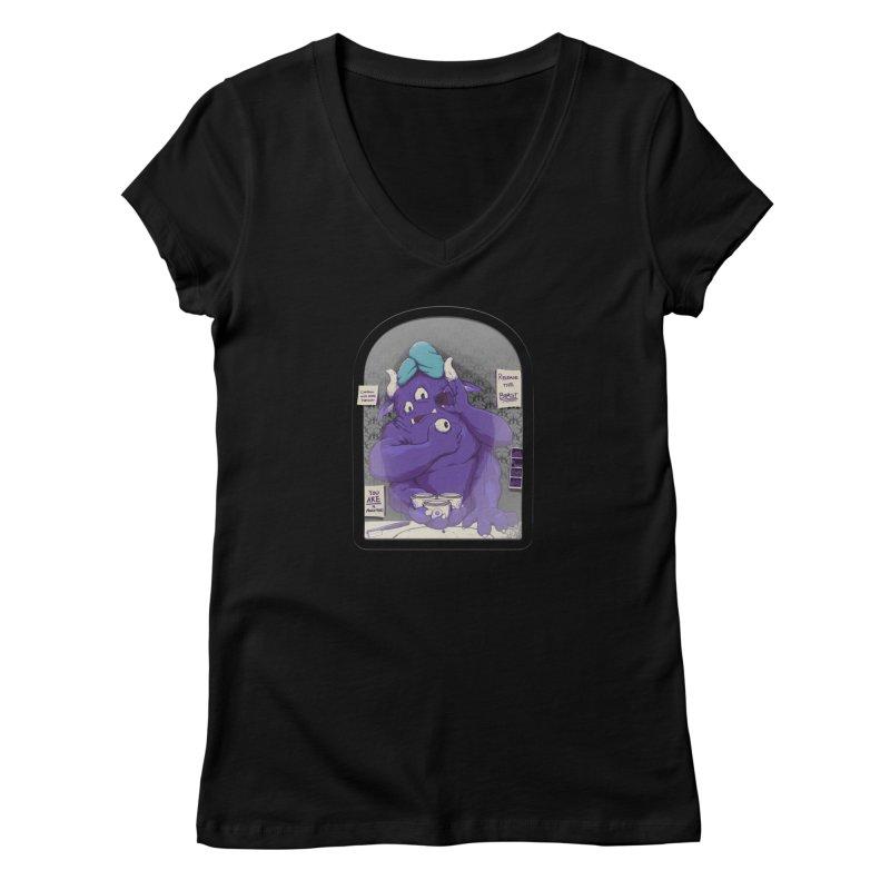 Monster in the Morning Women's V-Neck by Gyledesigns' Artist Shop