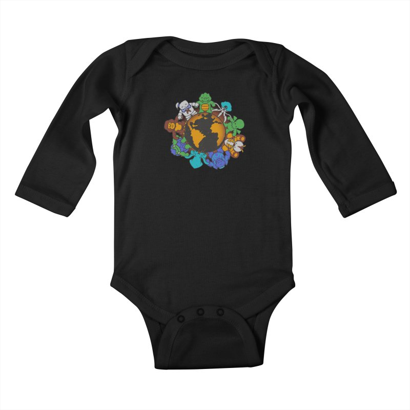 We Are (the Destroyers) of the World Kids Baby Longsleeve Bodysuit by Gyledesigns' Artist Shop