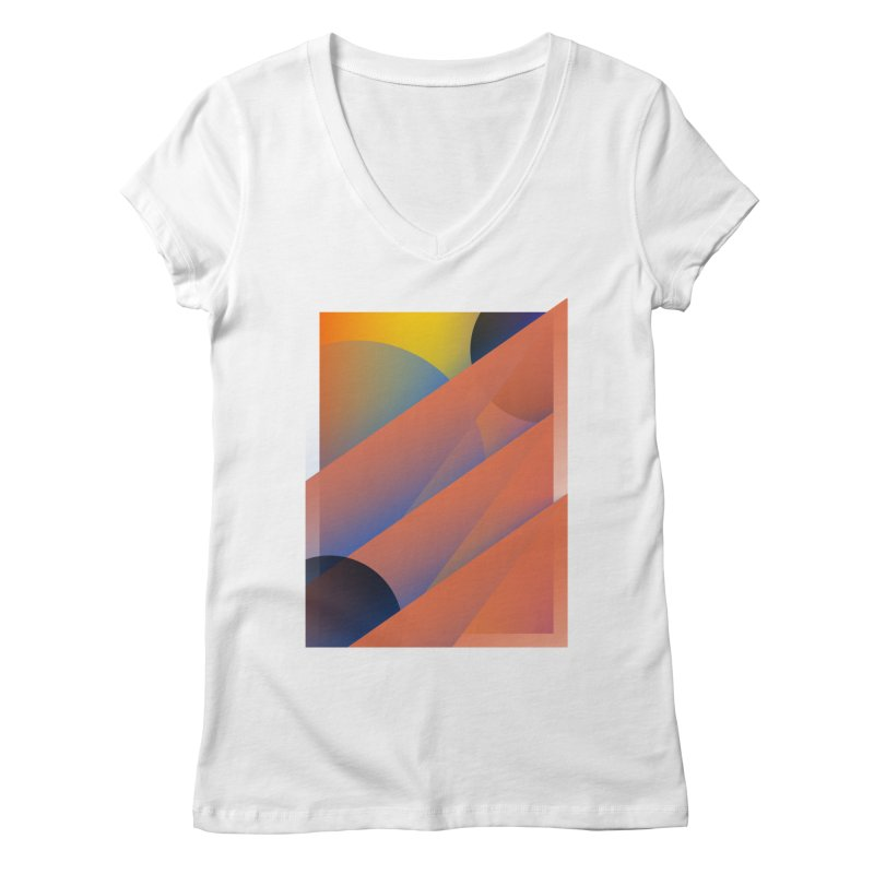 Lumen Vultus Women's Regular V-Neck by His Artwork's Shop