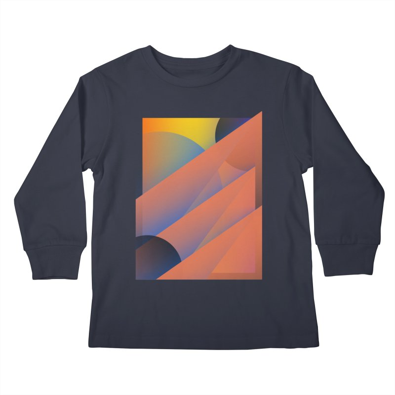 Lumen Vultus Kids Longsleeve T-Shirt by His Artwork's Shop