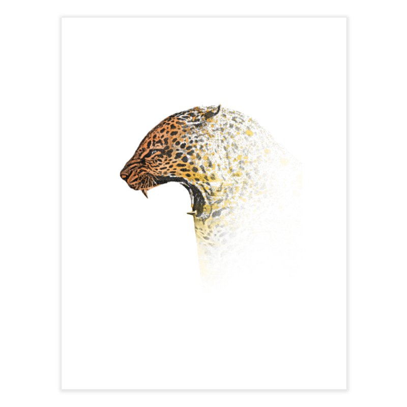 How the leopard got it's spots Home Fine Art Print by His Artwork's Shop