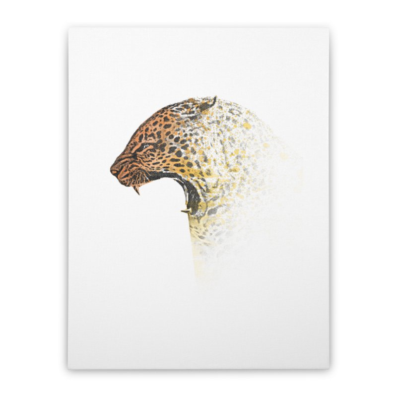 How the leopard got it's spots Home Stretched Canvas by His Artwork's Shop