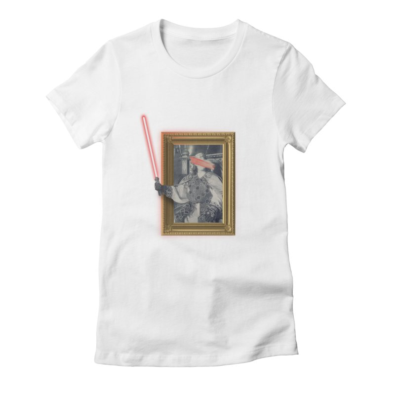 Camelot far far away Women's Fitted T-Shirt by His Artwork's Shop
