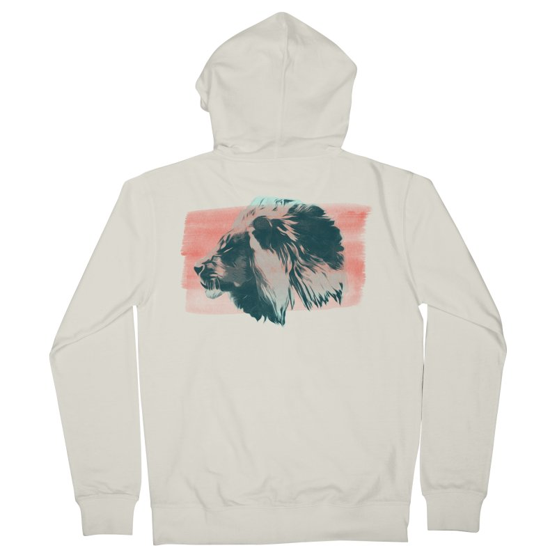 Leader Men's French Terry Zip-Up Hoody by His Artwork's Shop