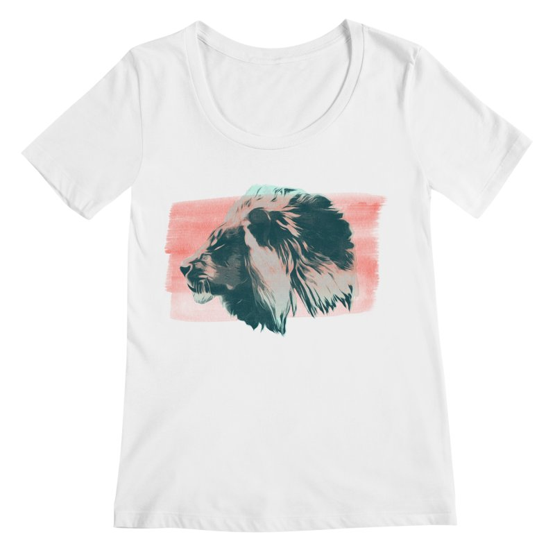 Leader Women's Scoopneck by His Artwork's Shop