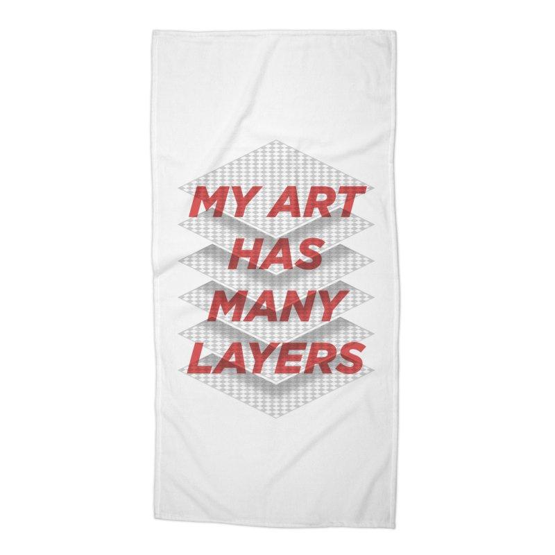 Art Snob Accessories Beach Towel by His Artwork's Shop