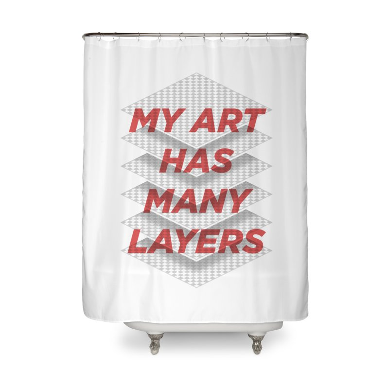 Art Snob Home Shower Curtain by His Artwork's Shop