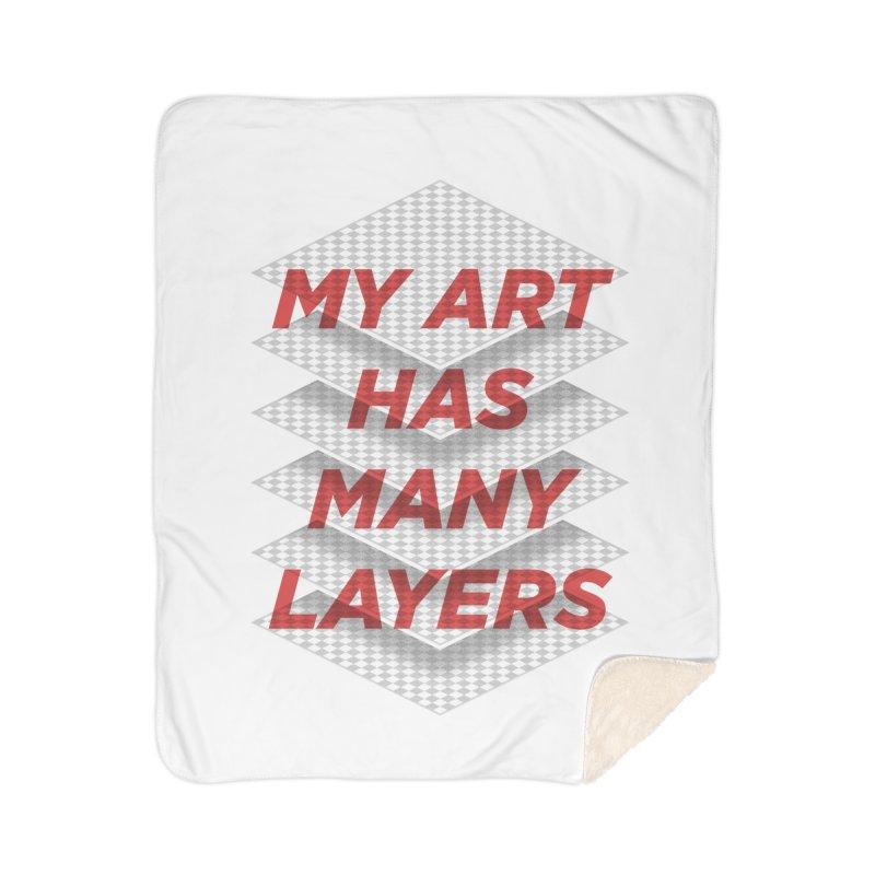 Art Snob Home Sherpa Blanket Blanket by His Artwork's Shop