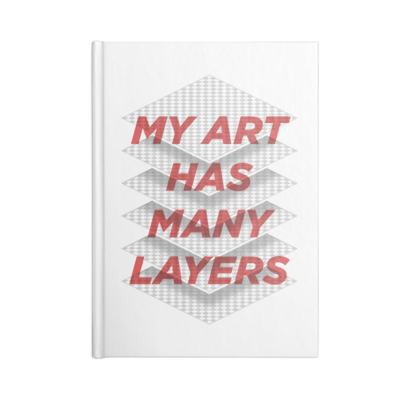 Art Snob Accessories Lined Journal Notebook by His Artwork's Shop