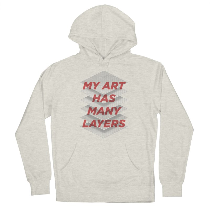 Art Snob Men's French Terry Pullover Hoody by His Artwork's Shop