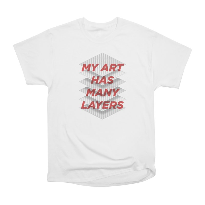 Art Snob Men's Heavyweight T-Shirt by His Artwork's Shop