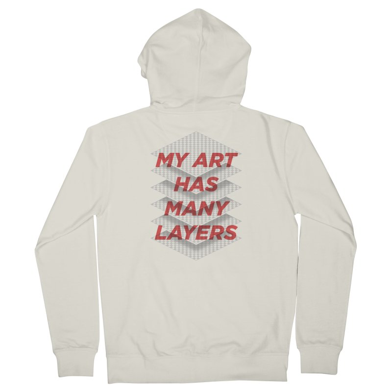 Art Snob Men's French Terry Zip-Up Hoody by His Artwork's Shop