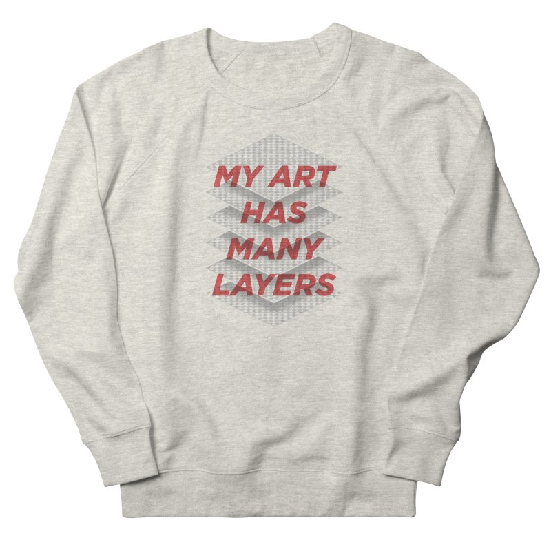 Art Snob Men's French Terry Sweatshirt by His Artwork's Shop