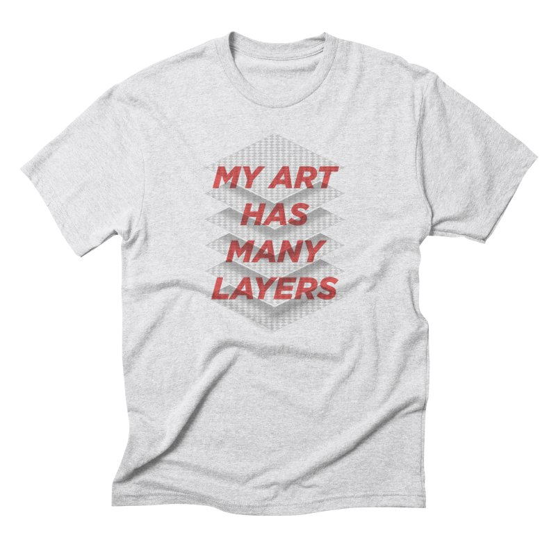 Art Snob Men's Triblend T-Shirt by His Artwork's Shop