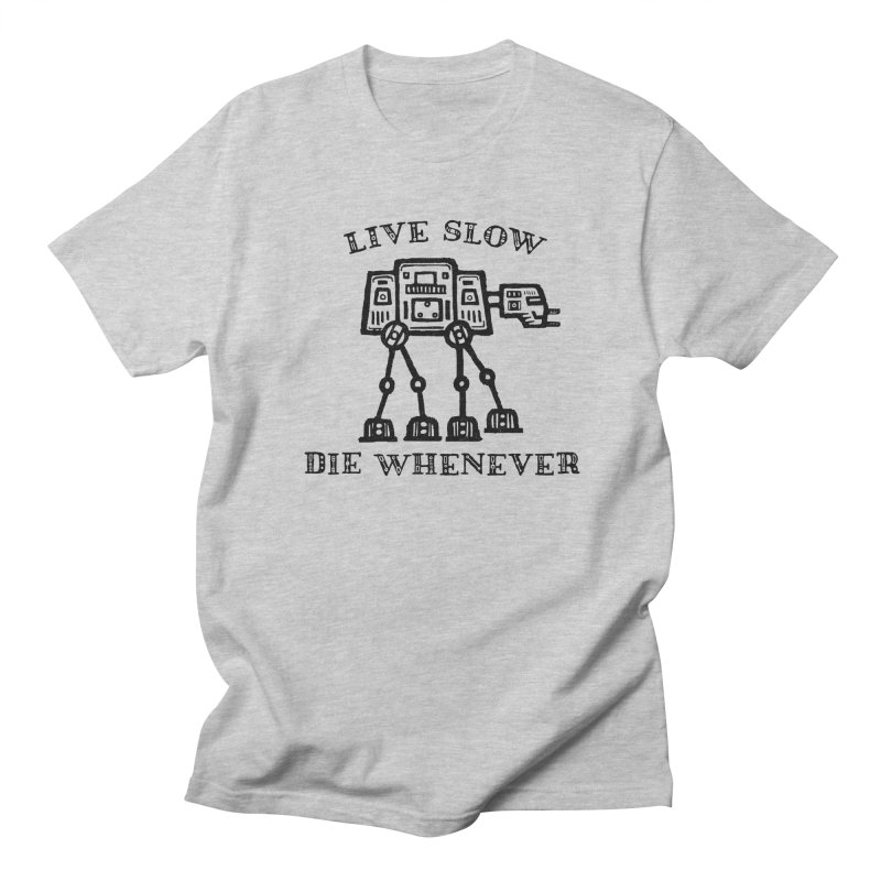 Live Slow in Men's T-shirt Heather Grey by His Artwork's Shop