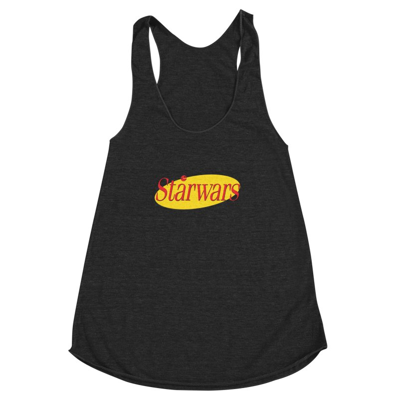 What's the deal with starwars? Women's Racerback Triblend Tank by His Artwork's Shop