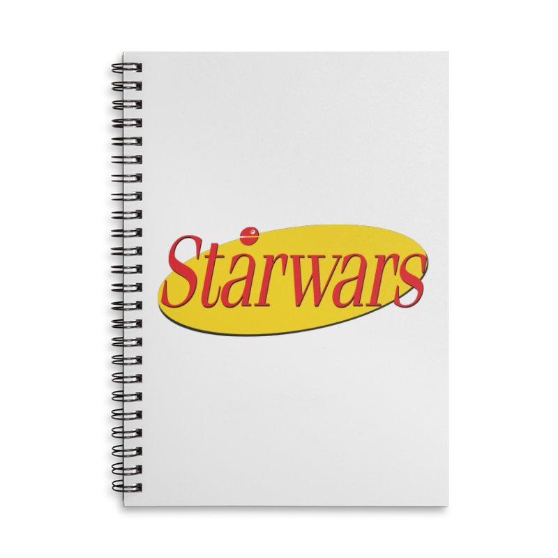 What's the deal with starwars? Accessories Lined Spiral Notebook by His Artwork's Shop