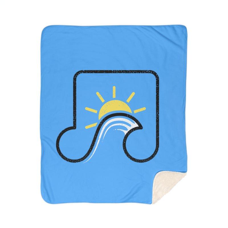 Sound Wave Home Sherpa Blanket Blanket by His Artwork's Shop