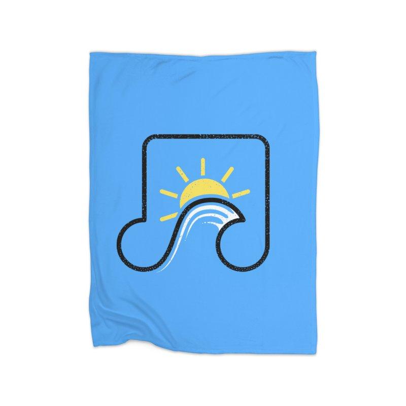 Sound Wave Home Fleece Blanket Blanket by His Artwork's Shop