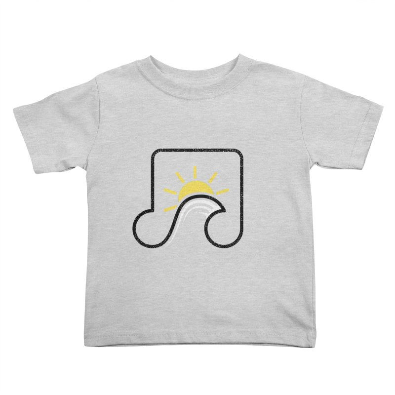 Sound Wave Kids Toddler T-Shirt by His Artwork's Shop