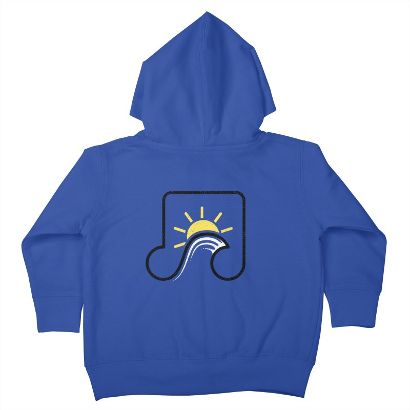 Sound Wave Kids Toddler Zip-Up Hoody by His Artwork's Shop