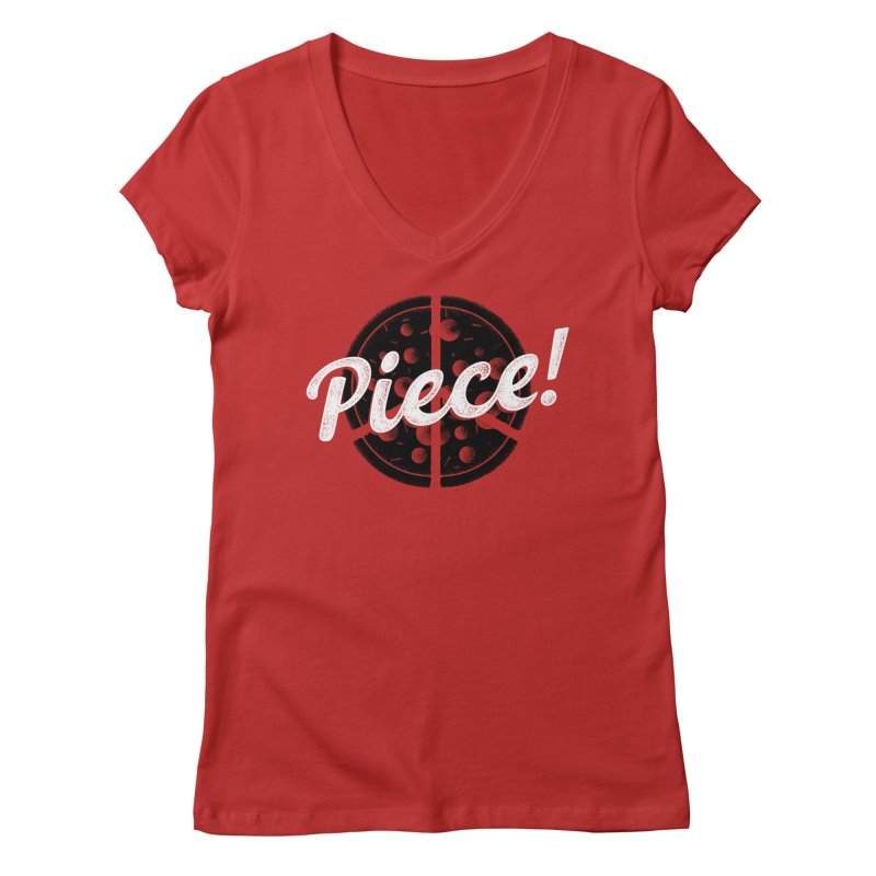 Piece for All Women's V-Neck by His Artwork's Shop
