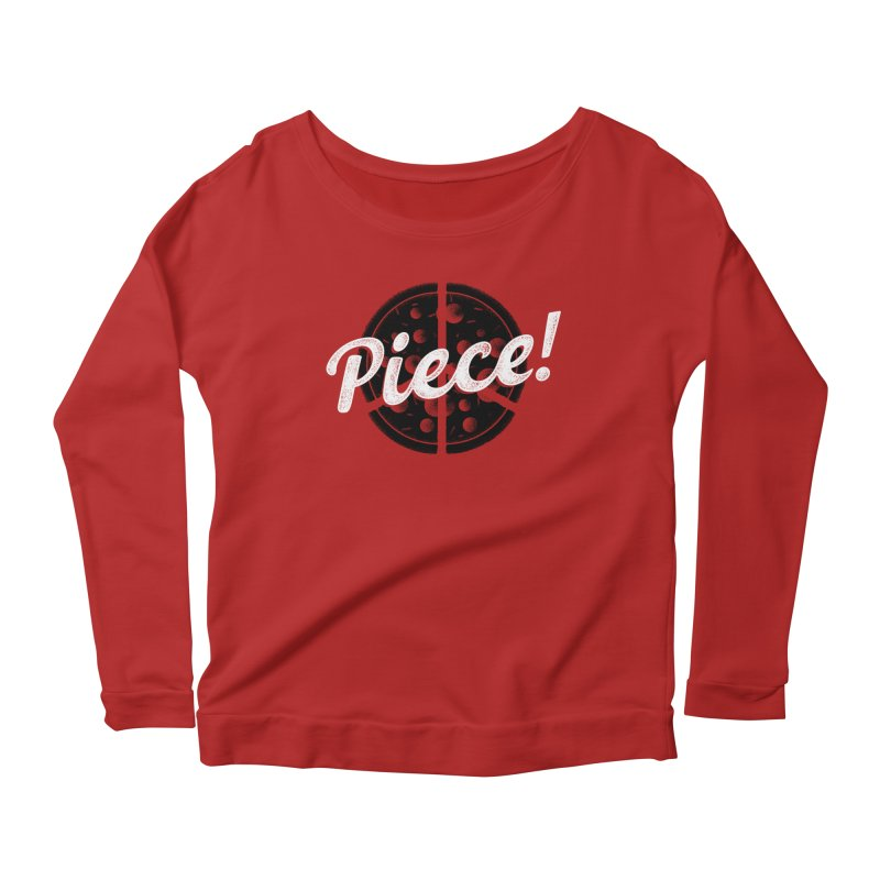 Piece for All Women's Longsleeve Scoopneck  by His Artwork's Shop