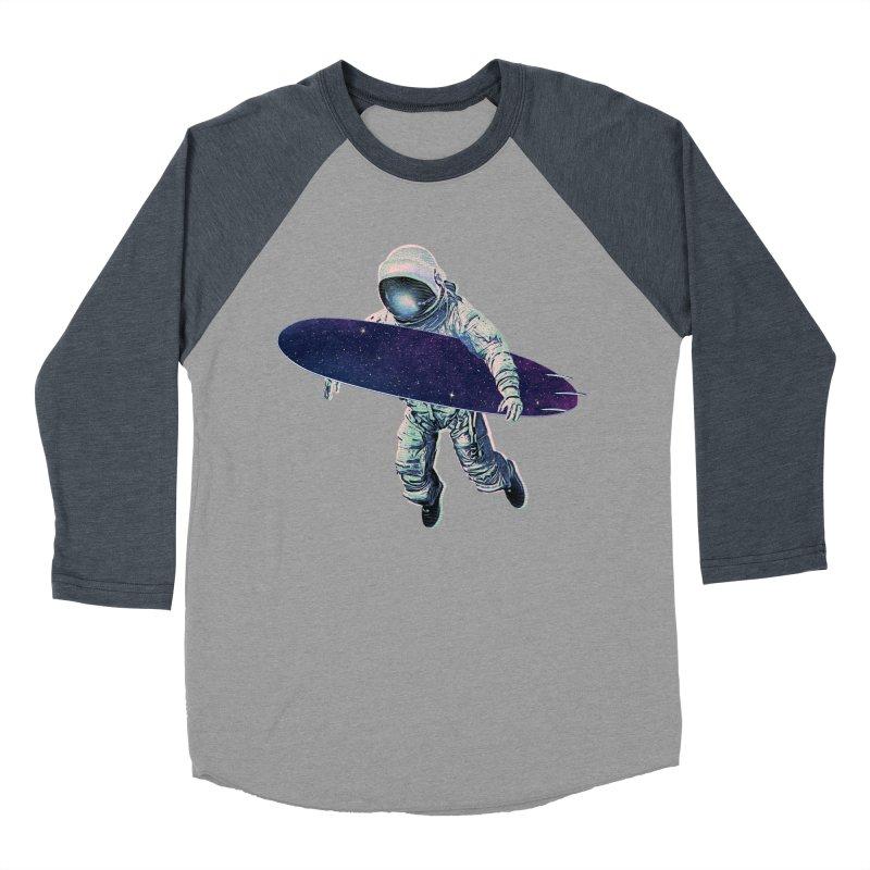 Gravitational Waves Men's Baseball Triblend Longsleeve T-Shirt by His Artwork's Shop