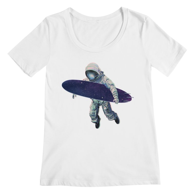 Gravitational Waves Women's Scoop Neck by His Artwork's Shop
