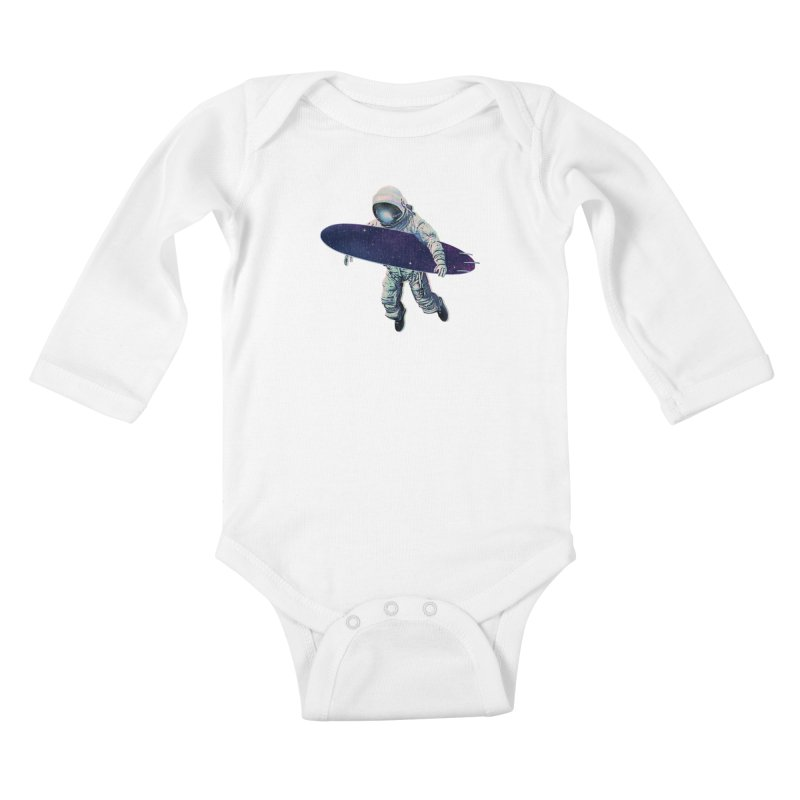 Gravitational Waves Kids Baby Longsleeve Bodysuit by His Artwork's Shop