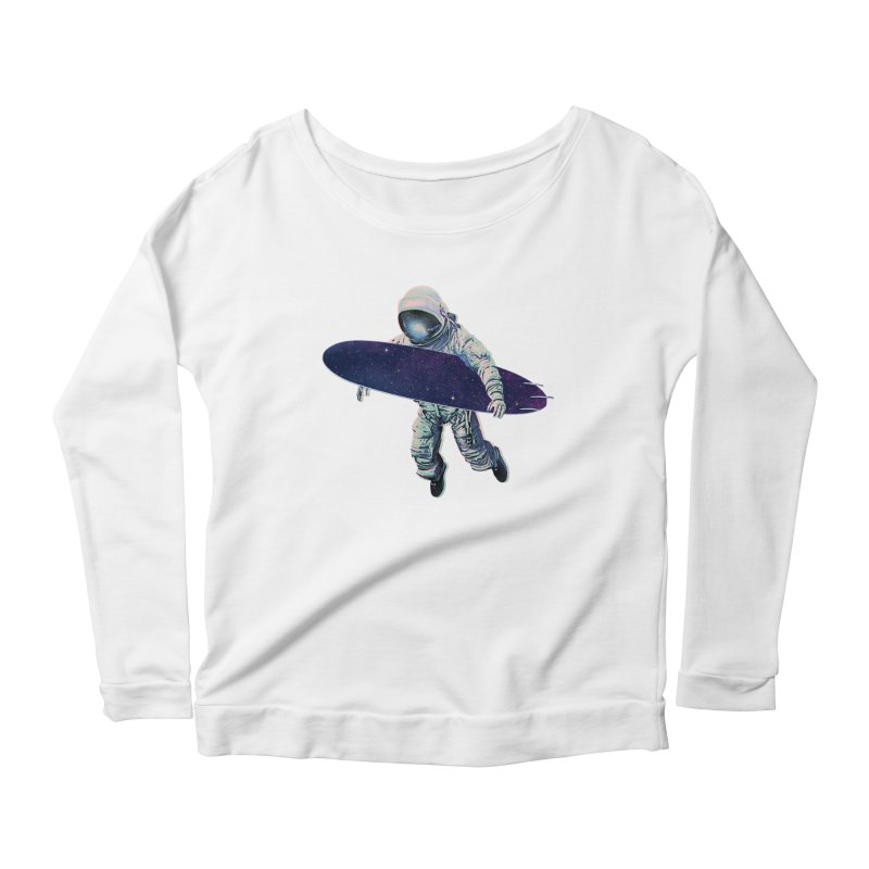 Gravitational Waves Women's Scoop Neck Longsleeve T-Shirt by His Artwork's Shop