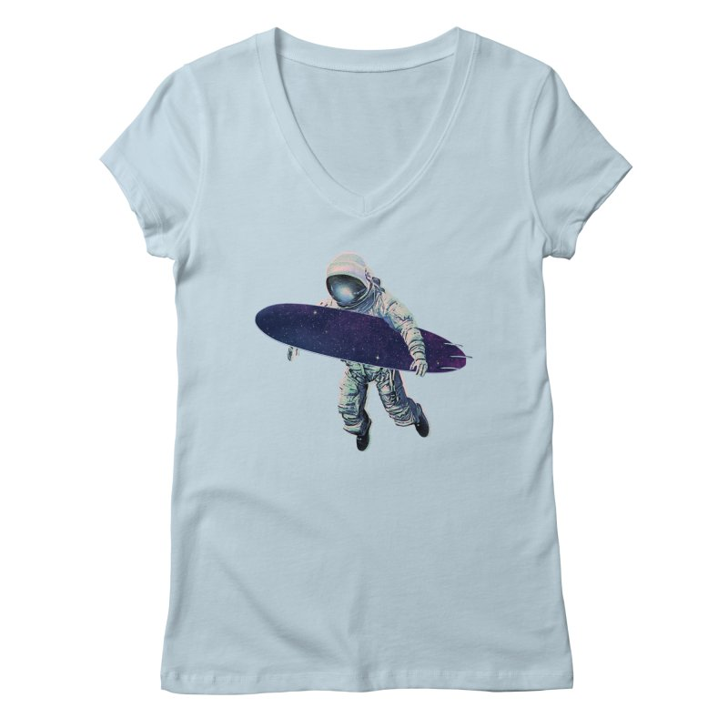 Gravitational Waves Women's V-Neck by His Artwork's Shop