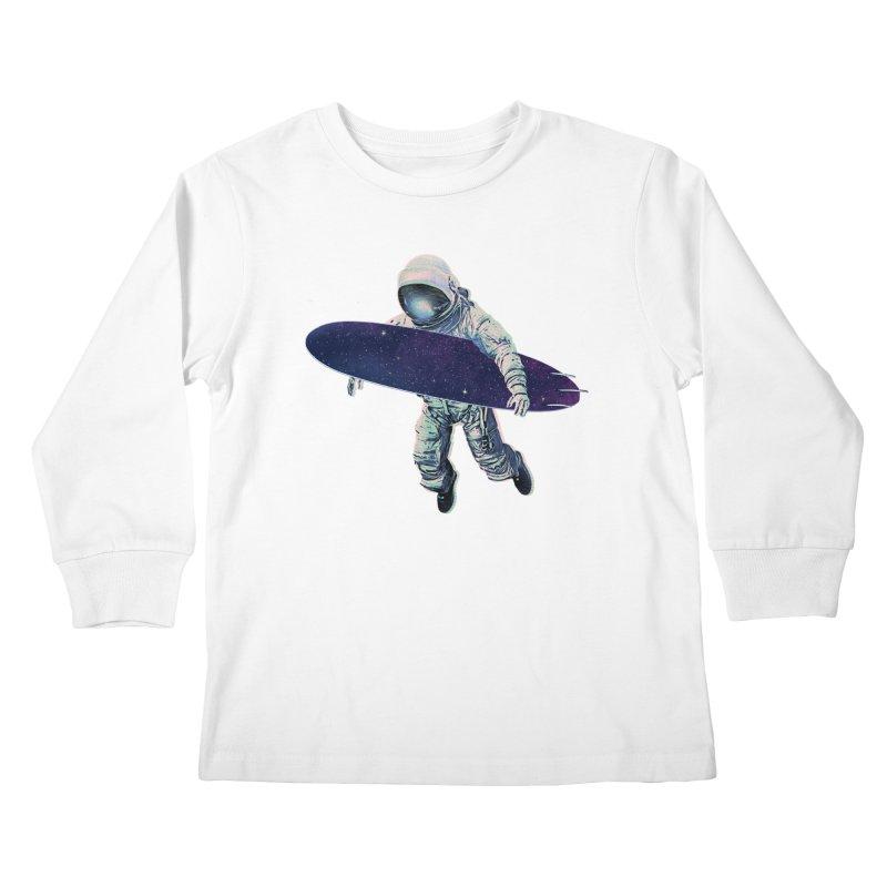 Gravitational Waves Kids Longsleeve T-Shirt by His Artwork's Shop