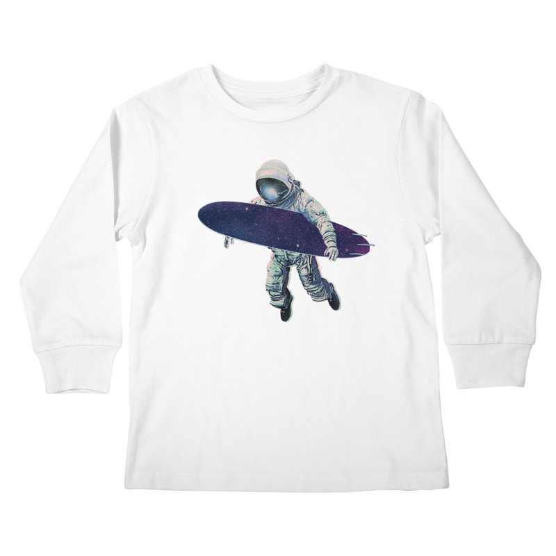 Gravitational Waves Kids Longsleeve T-Shirt by His Artwork's Shop