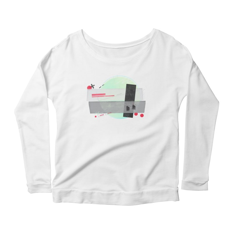 Kandinsky Entertainment System Women's Longsleeve Scoopneck  by His Artwork's Shop